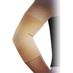 Elastic Sport Fitting Elbow Support Sleeve Band Brace Wrap Light Brown