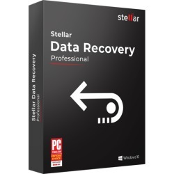 Stellar Data Recovery Software for Windows Professional Recovers Deleted Data, Photos, Videos, Email & DVD Etc. 1 Device, 1 Yr Subscription