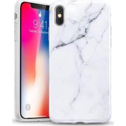 ESR iPhone Xs Case, iPhone X Case, Soft TPU [Marble Pattern] Shell Skin [Anti-Scratch] Ultra Thin [Slim Fit] Cover for Apple iPhone Xs/X 5.8' (White)