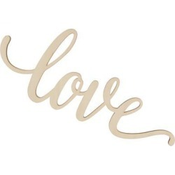 LOVE Unfinished Wooden Sign Home Party Wedding Rustic Wall Art Decoration