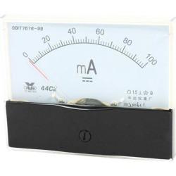 Unique Bargains Analog Panel Ammeter Gauge DC 0 - 100mA Measuring Range 1.5 Accuracy 44C2