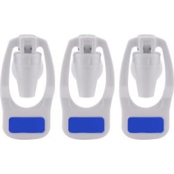 Blue Water Cooler Faucet Plastic Water Dispenser Clean Spigot Fits Adaptor Hot Cold Water Faucet Tap Replacement 3pcs