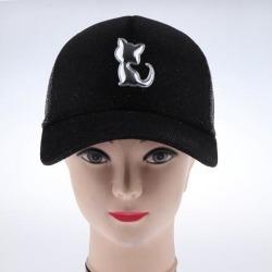 Trucker Hat Mesh Baseball Cap Adjustable Solid Women Men Hats Caps Black