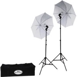 Savage LED60K 500 Watt LED Studio Light Kit with 2 Lights, 2 Stands, 2 Umbrellas & Case