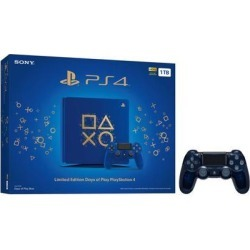 Playstation 4 Slim 1TB Days of Play Blue Limited Edition Gaming Console Bundle With an Extra Sony 500 Million Limited Edition Translucent Blue.
