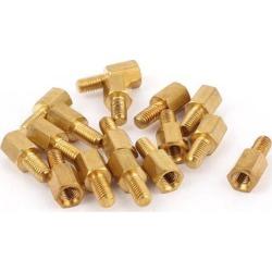 Unique Bargains 15Pcs M3x5mm Male to Female Thread Brass Hex Standoff Hexagonal Spacer