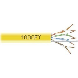 Black Box EYN855A-PB-1000 CAT5e 350-MHz Solid Bulk Cable - Unshielded, CMR Grade PVC, Yellow, 1000 ft. Pull Box