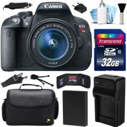 Canon EOS Rebel T5i 700D DSLR Digital Camera w/ 18-55mm Lens (32GB Value Bundle)