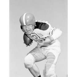 Posterazzi SAL255424249 American Football Player Attacking Poster Print - 18 x 24 in.