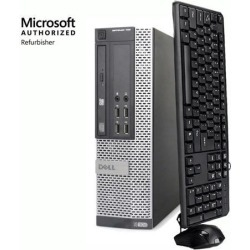 Recertified - Dell Optiplex 790 SFF Computer Intel Core i5 2400 8GB 250GB HDD DVD Windows 7 Professional with New Free Keyboard, Mouse, Power cord, WiFi