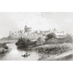 Posterazzi DPI1862732 Wndsor Castle Windsor England From the Gallery of Geography Published London Circa 1872 Poster Print, 18 x 12