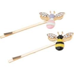 2pcs Women Honeybee Crystal Rhinestone Hair Clip Hairpin Barrette Headwear
