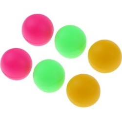 6 Pcs Beach Table Tennis Balls Beer Ping Pong Colorful Cat Balls Colorful A