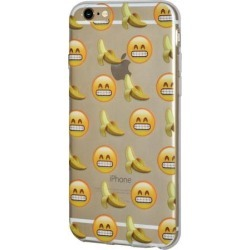 iPhone 6 Plus Case Emoji Clear Desgin Printed Pattern Soft Skin Fit Clear Case for iPhone 6s Plus - Grinning Face With Smiling Eyes