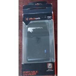 Recertified - Blackweb Black Pocket 4000 Mah Portable Smart Phone Charger Power Bank W Usb