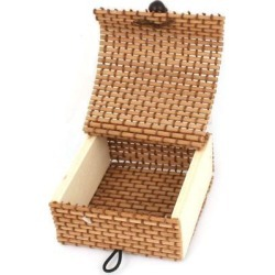 Unique Bargains Square Design Bamboo Necklaces Jewelry Organizer Storage Box Case Coffee Color found on Bargain Bro Philippines from Newegg Business for $4.38