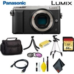 Panasonic Lumix DMC-GX85 Mirrorless Micro Four Thirds Digital Camera (Body Only) (Silver) Pro Bundle