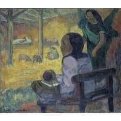 Posterazzi SAL261234 Christmas 1886 Paul Gauguin 1848-1903 French Oil on Canvas Hermitage Museum St Petersburg Russia Print - 18 x 24 in.