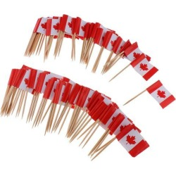 100 Pieces Decorative Flag Toothpicks Party Food Decorations Canada