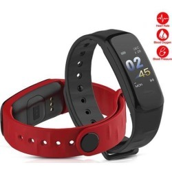 Smart Bracelet Color-screen Fitness Tracker Blood Pressure Heart Rate Monitor Sleep Tracker Wristband for Android IOS Orange