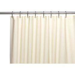 Carnation Home Fashions Curtain Living Room Decorative Standard-Sized, 6 Gauge PEVA Liner in Bone