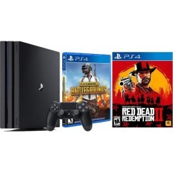 PlayStation 4 PUBG RDR2 Bonus Bundle: PLAYERUNKNOWN'S BATTLEGROUNDS, Red Dead Redemption 2, PlayStation 4 4K HDR 1TB Gaming Console