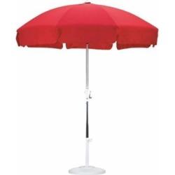 California Umbrella SLPT758001-F13 7.5 ft. Patio Umbrella Push Tilt Anodized-Olefin-Red