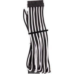 Corsair CP-8920234 2 ft. Premium Individually Sleeved ATX 24-Pin Cable Type 4 Gen 4 - Black/White