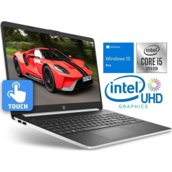 HP 15 Notebook, 15.6' HD Touch Display, Intel Core i5-1035G4 Upto 3.70GHz, 32GB RAM, 256GB SSD, HDMI, Card Reader, Wi-Fi, Bluetooth, Windows 10 Pro S