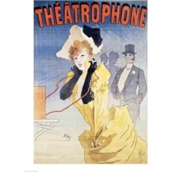 Posterazzi BALBAL41410LARGE Poster Advertising The Theatrophone Poster Print by Jules Cheret - 24 x 36 in. - Large