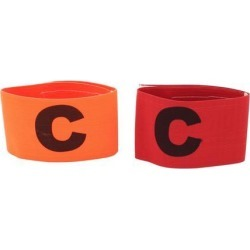 Unique Bargains 3 Pcs Orange Red Elastic Football Soccer Captain Armband with Letter C Printed