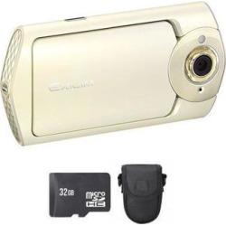 Casio Exilim EX-TR60 Selfie Digital Camera - White + 32GB & Case