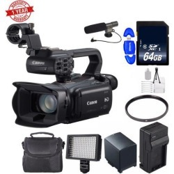 Canon XA25 Professional HD Camcorder + 64GB SDXC Class 10 Memory Card + BP-820 Replacement Lithium Ion Battery + Deluxe Starter Kit Bundle