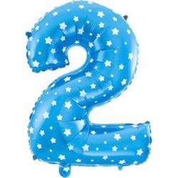 16' Blue Foil Number 2 Shape Balloon Helium Party Birthday Wedding Decor