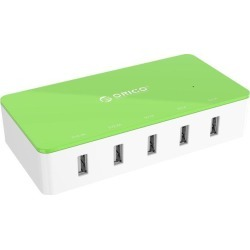 Orico Electrical 5 Port Desktop USB Charger ( with 2 Prong Power Cord ) All-in-One Charger 30W power output for Tablet iPhone 7/ 6s/ Plus/, iPad Air,