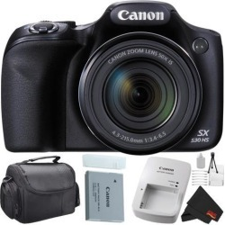 Canon PowerShot SX530 HS Digital Camera 50X Optical Zoom Bundle with Carrying Case