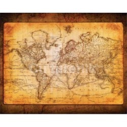 Posterazzi IMPSX0205R World Map Antique Poster Print - 20 x 16 in.