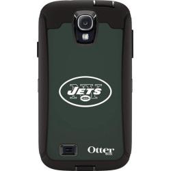 OtterBox Defender Case for Samsung GALAXY S4 - Retail Packaging - NFL Jets (Black New York Jets NFL Logo)
