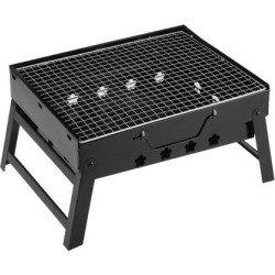 Barbecue Grill Portable Lightweight Simple Charcoal Grill Foldable BBQ Grill for Outdoor Campers Lovers Travel Park Beach Wild etc, Large Black found on Bargain Bro India from Newegg Canada for $41.51
