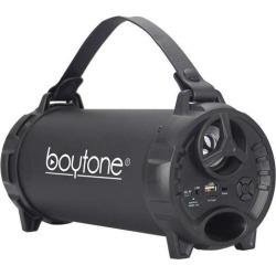 Boytone BT-40BK Portable Bluetooth Indoor/Outdoor Speaker 2.1 Hi-Fi Cylinder FM Built in Rechargeable Battery