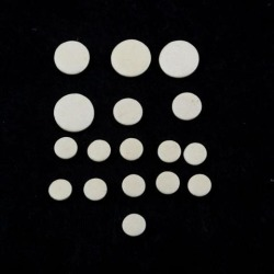 17 Pcs White Clarinet Leather Pads Set Woodwind Musical Instruments Parts
