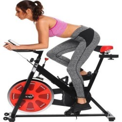 ANCHEER Bike Fitness Belt Drive Indoor Exercise Cycling Bike with 40LBS Flywheel found on Bargain Bro India from Newegg Canada for $254.02