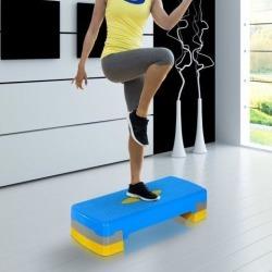 Soozier A90-076VT Adjustable Aerobic Step Cardio Exercise Stepper