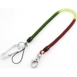 Flexible Stretchy Coil Cord Spring Key Chain Tool Pendant Strap