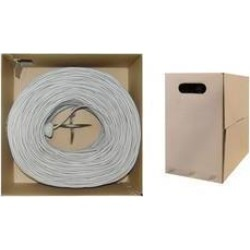 Cable Wholesale CAT5E UTP Solid 1000 foot Ethernet Cable Pull Box - Gray