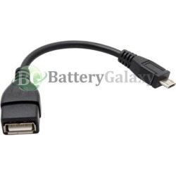 100 USB Micro B to A M/F Adapter Converter OTG Cable Cord for Android Cell Phone