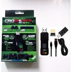 CronusMax Plus Cross Cover Gaming Adapter for PS4 PS3 Xbox One Xbox 360 Windows PC 2018 Version with Add On Pack +USB Sound Card + Bluetooth 4.0.
