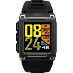 Professional Swimming Sport Smart Watch IP68 Waterproof Fitness Activity Tracker Monitor Heart Rate Monitor Wristwatch black