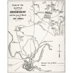 Posterazzi DPI1855819 Plan of The Battle of Shrewsbury Shropshire England Fought July 21 1403 Poster Print, 13 x 16