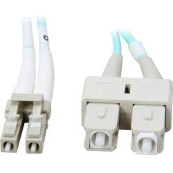Coboc CY-OM3-LC/SC-1 3.28 ft. 10Gb Fiber Optic Cable, LC/SC, Multi Mode, Duplex (50/125 Type) - Aqua